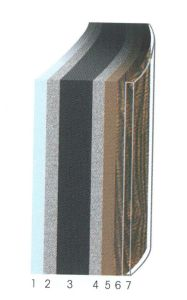 Stahlmantelbecken Holz