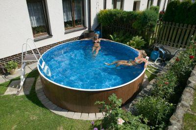Pool set rund 4 60 x 1 10 m mit sandfilter stahlwand for Stahlwandbecken set rund