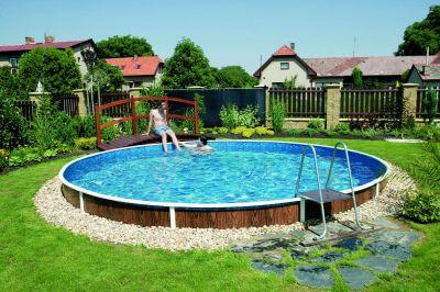 Schwimmbad pool stahlwandbecken rundpool 3 60 x 1 10 m for Schwimmbad innenfolie