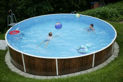 Pool set rund 4 60 x 1 10 m mit sandfilter stahlwand for Pool stahlwand rund aufbauhinweise