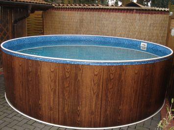 schwimmbad pool stahlwandbecken rundpool 4 60 x 1 20 m. Black Bedroom Furniture Sets. Home Design Ideas