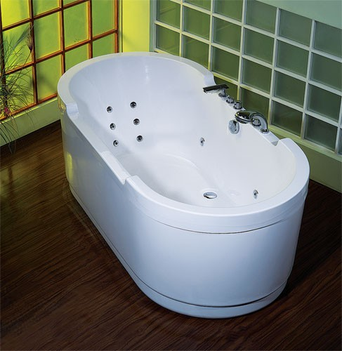 freistehende whirlpool badewanne kentucky wms mit armaturen 180 cm hydromassage ebay. Black Bedroom Furniture Sets. Home Design Ideas