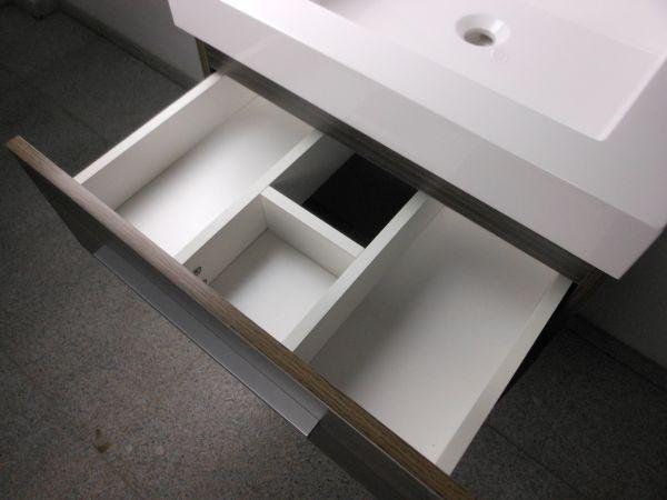 Waschtisch 80 cm mit 2 Schubladen, Badmöbel Waschbecken mit Unterschrank Spiegel  eBay