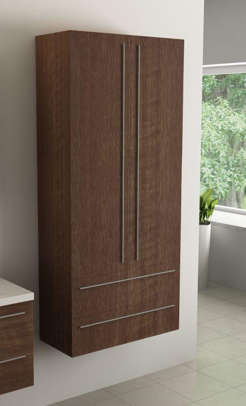 waschtisch 80cm badm bel set unterschrank waschbecken spiegel graue walnuss ebay. Black Bedroom Furniture Sets. Home Design Ideas