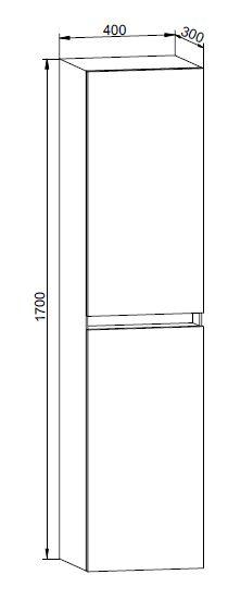 Badmöbel Seitenschrank