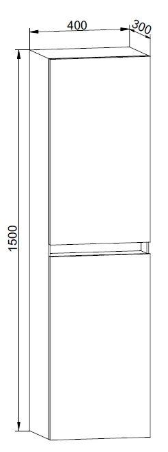 Badmöbel Seitenschrank150cm
