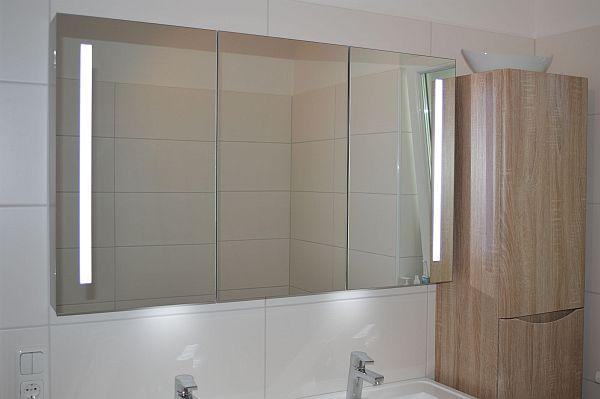 badezimmer doppelwaschtisch 120 cm waschbecken schrank spiegel k sten optional ebay. Black Bedroom Furniture Sets. Home Design Ideas