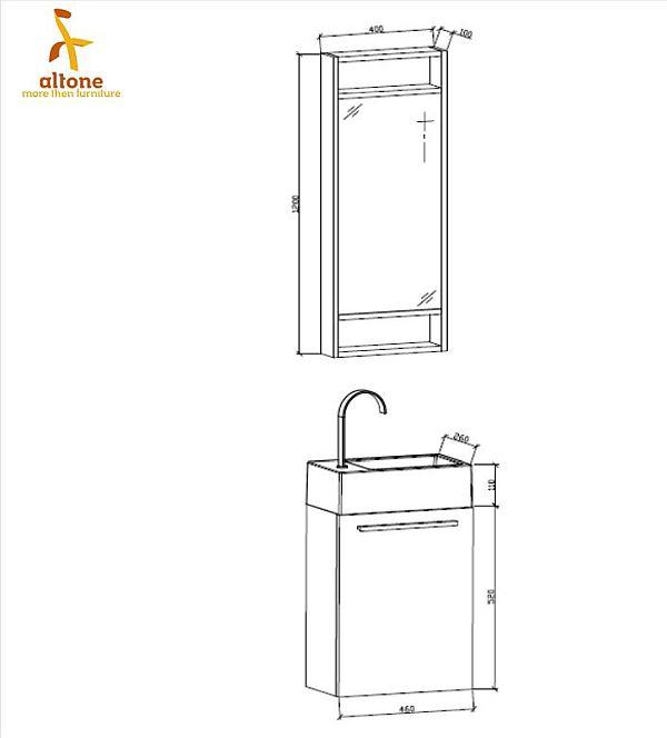 Abmessung WC Waschbecken