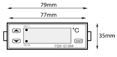 Abmessungen Temperaturregler FOX D1004