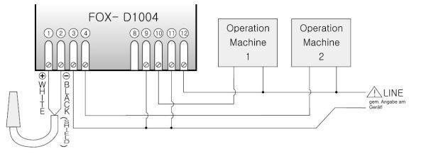 Elektrischer Anschluss FOX Temperaturregler D1004