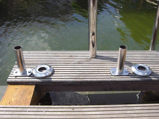Pool Leiter Flanschrohr Holz Steeg