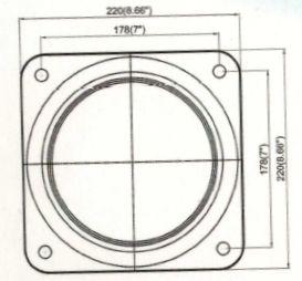 Montageplatte Solardusche Aluminium