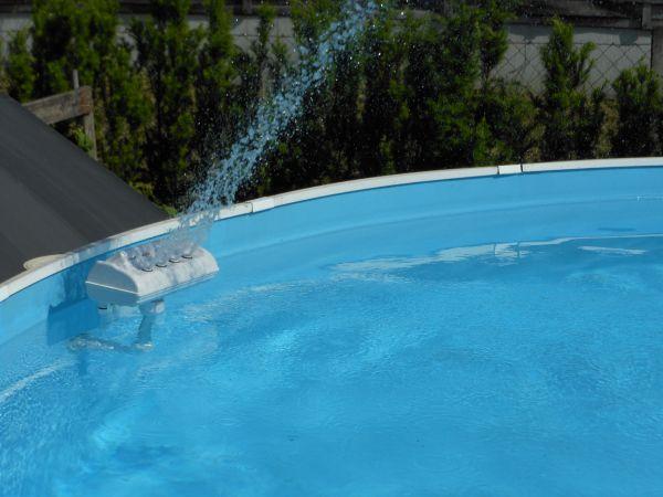 Pool attraktion springbrunnen fontaine led font ne fountain ebay - Pool auf rasen stellen ...