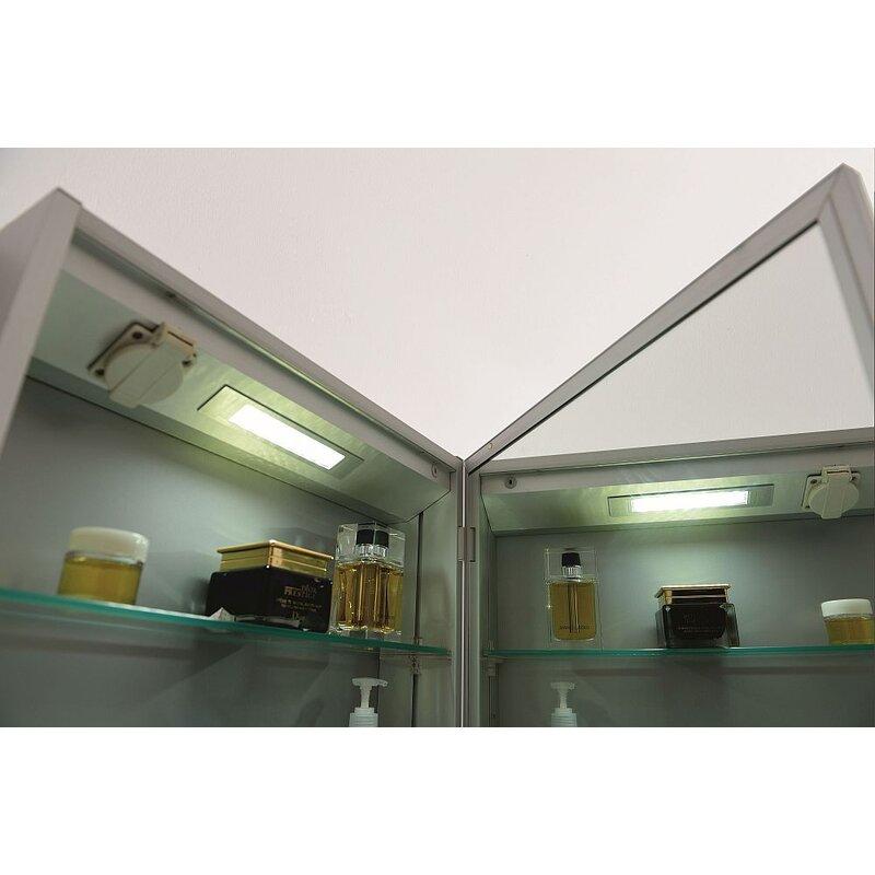 wundersch ner spiegelschrank mit licht 199 00. Black Bedroom Furniture Sets. Home Design Ideas