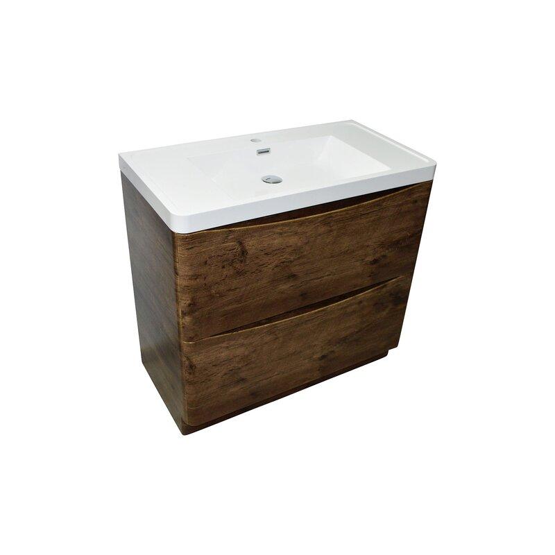 waschtisch smile 90 cm bodenstehend rosenholz 349 90. Black Bedroom Furniture Sets. Home Design Ideas