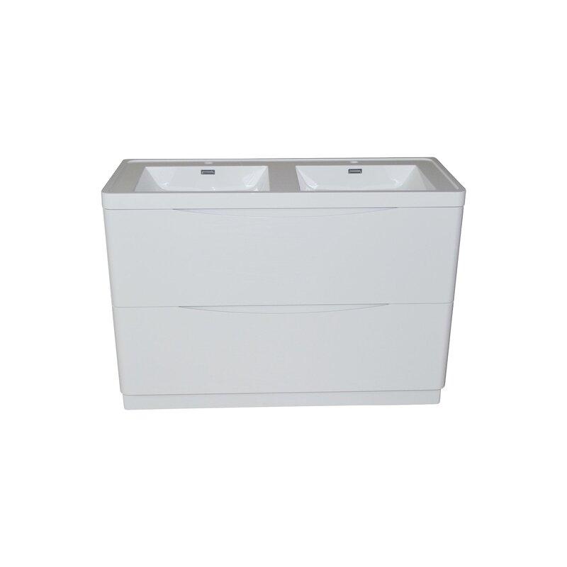 doppelwaschtisch smile 120 cm bodenstehend wei 429 90. Black Bedroom Furniture Sets. Home Design Ideas