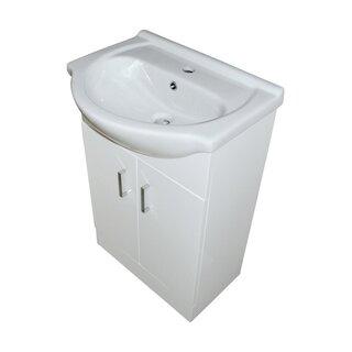 Waschtisch 55 cm weiß Hochglanz