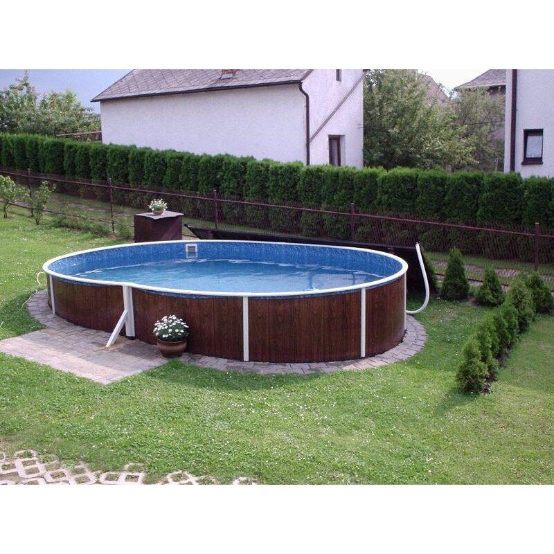 Stahlmantelbecken oval für Ihren Garten!