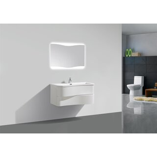 Waschtisch Set 90 Cm Weiß Hochglanz Design