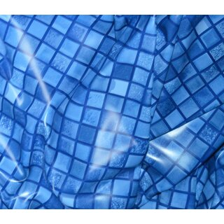 Poolfolie 4 60 x 1 20m blau mosaik 119 00 for Poolfolie blau