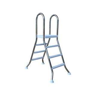 Stainless steel high pool ladder 3+3 for 1,0m
