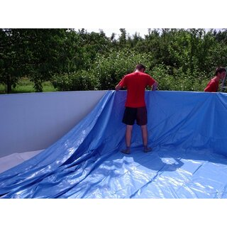 Poolfolie Oval 7,30 x 3,70 x 1,20m blau / 0,4mm