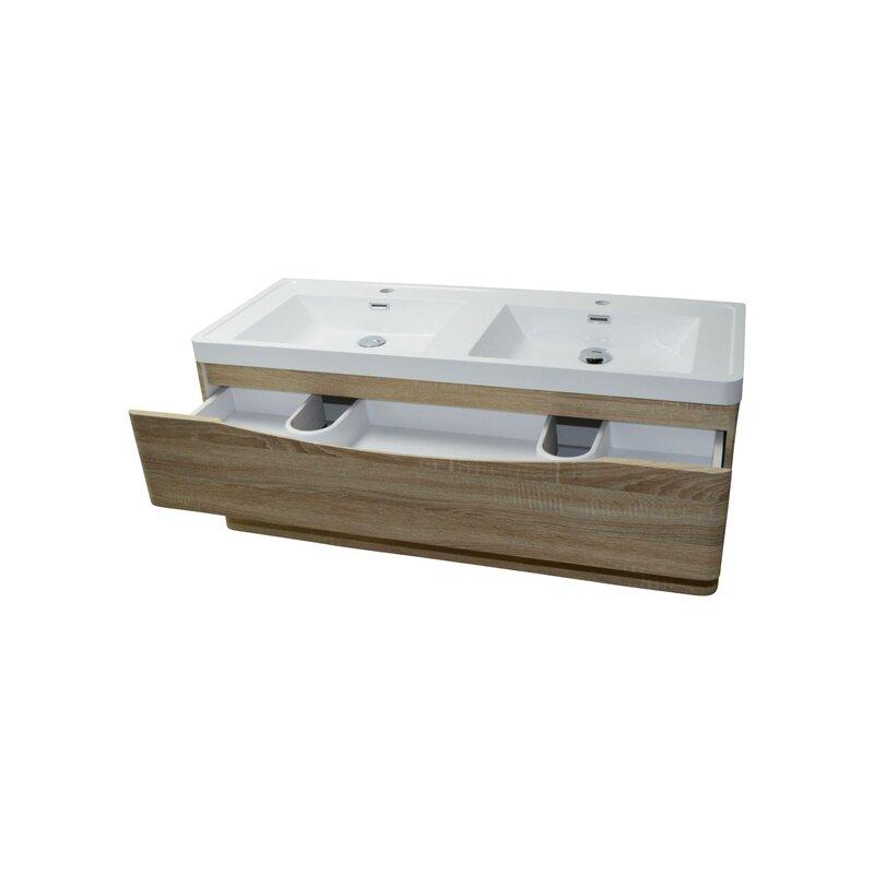 doppelwaschtisch smile 120 cm eiche hell 355 00. Black Bedroom Furniture Sets. Home Design Ideas