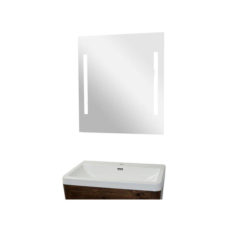 Badezimmer Wandspiegel Mit 2 Lichtbalken 60 X 80 Cm, 67,90