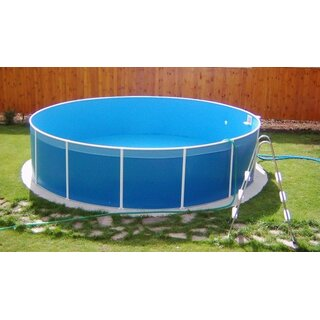 Poolfolie rund 4 0 x 0 90m blau 59 99 for Poolfolie blau