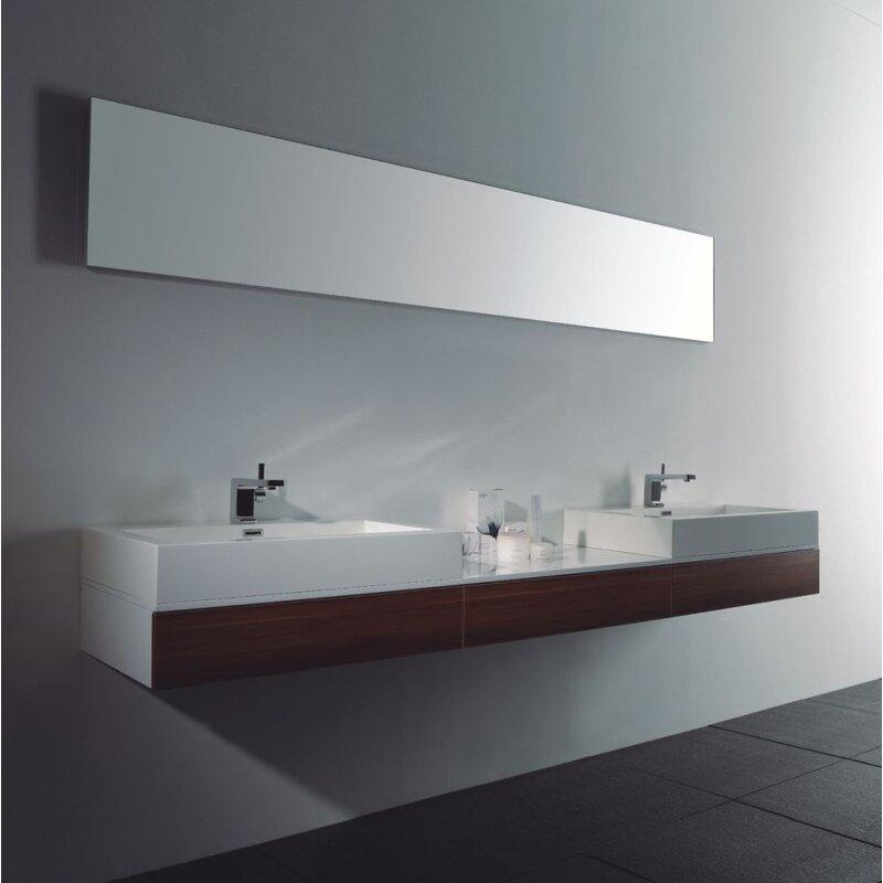 doppelwaschtisch 225 cm wei nussbaum 699 00. Black Bedroom Furniture Sets. Home Design Ideas